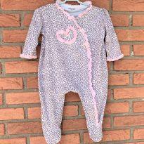 4689 - Macacão com pezinho Little Me - menina 9 meses - Oncinha - 9 meses - Little Me