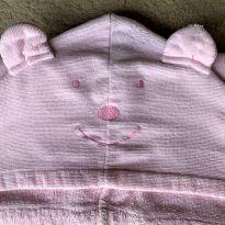 4686 - Toalha de banho menina com capuz Baby Soft - Gigante -  - Importada