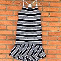 4721 - Vestido longo listrado Nautica – Menina 6X - 6 anos - Nautica