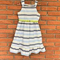 4716 - Vestido branco listrado Crazy 8 – Menina 7 anos - 7 anos - Crazy 8