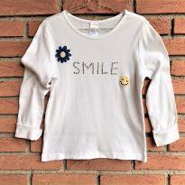 4692 - Blusa branca Gymboree – Menina 7 anos – Smile - 7 anos - Gymboree