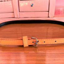 4737 - Cinto laranja em couro sintético – regulável entre 54 e 64 cm. -  - Importado