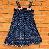 4722 - Vestido marinho com Poá Young Dimension – Menina 5/6 anos - 5 anos - Young dimension