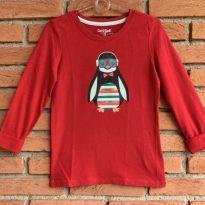 4698 - Blusa vermelha Cat & Jack – Menina 6/6X – Pinguim - 6 anos - Cat & Jack