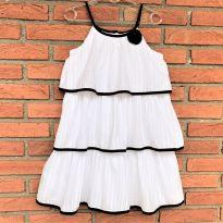 4715 - Vestido branco de babados Penelope Mack – Menina  6X - 6 anos - Penelope Mack