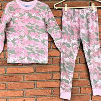 4712 - Pijama 2 peças rosa camuflado – Polaredge – Menina 6 anos - 6 anos - Importado