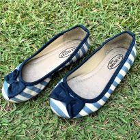 4756 - Sapatilha listrada azul jeans La Dutry – Tamanho 27 – 18.5 cm. - 27 - La Dutry Kids