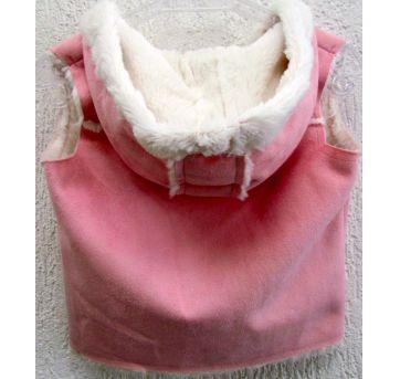 4770-Colete com capuz rosa e branco Crazy 8 12/24 meses - 18 a 24 meses - Crazy 8