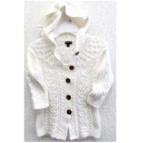 4781-D-Casaco branco em tricô com capuz - Gap M/2 anos - 2 anos - Baby Gap