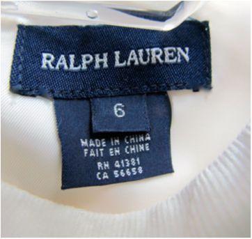 4780-Vestido Branco Ralph Lauren - 6 anos - 6 anos - Ralph Lauren