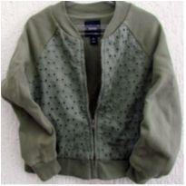 4796 - D-Blusão verde vintage Gap - M/6-7 anos - 6 anos - Baby Gap