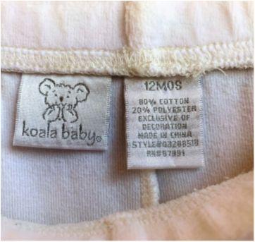 4873 - Calça branca em plush – Koala Baby – Menina 12 meses - 1 ano - Koala Baby