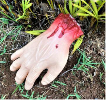 4888 - Halloween Importado – réplica de mão sangrenta - Sem faixa etaria - Importado