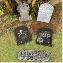 4886 - Halloween importado – Réplica de lápides de túmulos -  - Importado