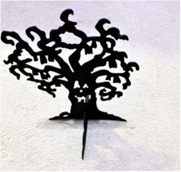 4909 - Halloween importado – Árvore negra de mesa. - Sem faixa etaria - Importado