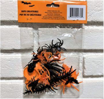 """4914 - Halloween Importado – Pacote de """"Criaturas"""" – 18 peças - Sem faixa etaria - Importado"""