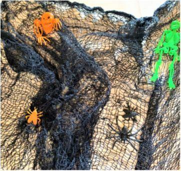 4926 - Halloween Importado - Teia preta de aranha - Sem faixa etaria - Importado