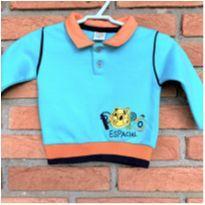 5001 - Blusão azul Marlan – menino 3 a 6 meses – Espacial - 3 a 6 meses - Marlan