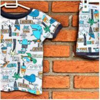 5022 - Pijama duas peças Baby Gap – menino 2 anos – Beach - 2 anos - Baby Gap