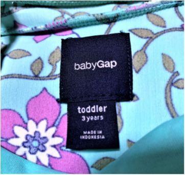 5036 - Maiô Baby Gap – menina 3 anos – Floral - 3 anos - Baby Gap