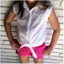5079 - Camisa branca Zara – Menina 7 anos - 7 anos - Zara