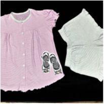 5089 - Pijama duas peças Cara de Criança – Menina 8 anos - 8 anos - Cara de Criança