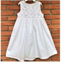 5115 - Vestido branco Carter's – Menina 6X – Pétalas - 6 anos - Carter`s