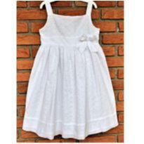 5116 - Vestido branco Charter Club – Menina 6X - 6 anos - Importado