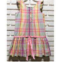 5123 - Vestido xadrez Ralph Lauren – Menina 7 anos. - 7 anos - Ralph Lauren