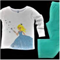 5154 - Pijama duas peças–Carter's/American Marketing–Menina 8 anos – Princezinha - 8 anos - Importado