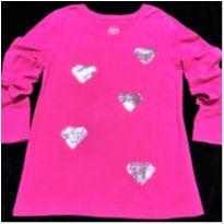 5132 - Blusa pink Faded Glory – Menina 7/8 anos - 7 anos - Faded Glory (EUA)