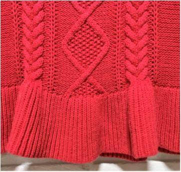 MT - 5289 - Vestido vermelho em tricô Baby Gap – Menina/3-6 meses - 3 meses - Baby Gap