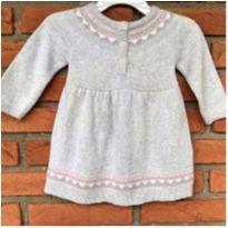MT - 5287 - Vestido Carter's em tricô – Menina/3 meses - 3 meses - Carter`s