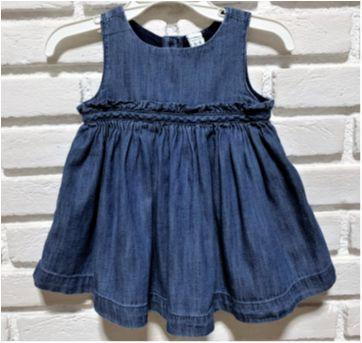 MT - 5288 - Vestido jeans Baby Gap – Menina/3-6 meses - 3 a 6 meses - Baby Gap