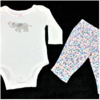 MT - 5273 - Conjuntinho Carter's – Menina/3 meses – Elefantinha - 3 meses - Carter`s