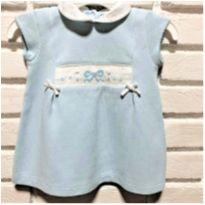 MT - 5285 - Vestido azul Petit Câlin – Menina/3 meses - 3 meses - Petit Calin