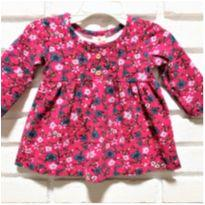 MT - 5286 - Vestido Brandili – Menina/3 meses – Floral - 3 meses - Brandili