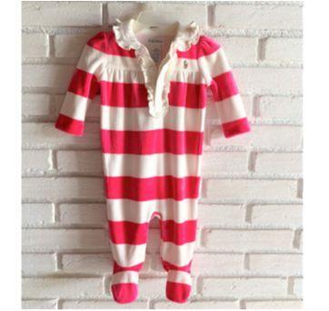 MT - 5315 - Macacão Ralph Lauren – Menina/6 meses – listrado pink - 6 meses - Ralph Lauren