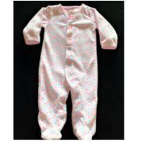 MT - 5303 - Macacão Carter's – Menina/6 meses – Corações coloridos - 6 meses - Carter`s