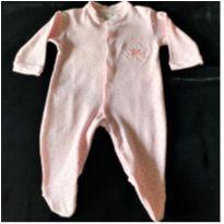 MT - 5314 - Macacão Patimini – Menina/3 a 6 meses – abellhinha sorridente - 3 a 6 meses - Patimini