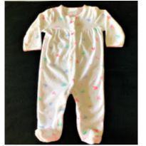 MT - 5307 - Macacão Carter's – Menina/6 meses  – Elefantinhos - 6 meses - Carter`s