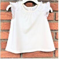 MT - 5339 - Blusa off white Baby Gap – Menina/6 a 12 meses - 6 a 9 meses - Baby Gap