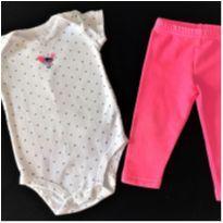 MT - 5351 - Conjunto Carter's – Menina/6 meses – Passarinho - 6 meses - Carter`s