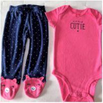MT - 5349 - Conjunto Carter's – Menina/6 meses – Little Cutie - 6 meses - Carter`s