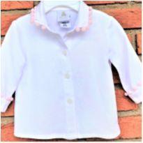 MT - 5340 - Blusa branca Paola Bimbi – Menina/6 meses. - 6 meses - Paola BimBi