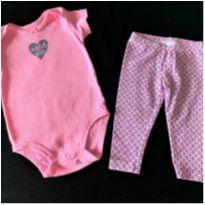 MT -5353 - Conjunto Carter's – Menina/6 meses – Wild about Daddy - 6 meses - Carter`s