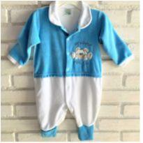 MT - 5390 - Macacão Ursinho Feliz – Menino 6 meses - 6 meses - Nacional
