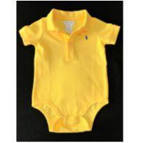 MT - 5360 - Camisa body amarelinha Ralph Lauren – Menino 6 meses - 6 meses - Ralph Lauren