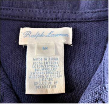 MT - 5391 - Macaquinho marinho Ralph Lauren – Menino 6 meses. - 6 meses - Ralph Lauren