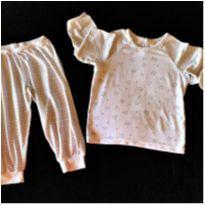 MT - 5459 - Pijama duas peças Dedeka GG – 12 meses - Cães e Gatos - 1 ano - Dedeka
